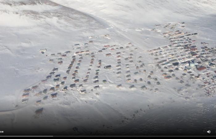 Air movie of Qaanaaq